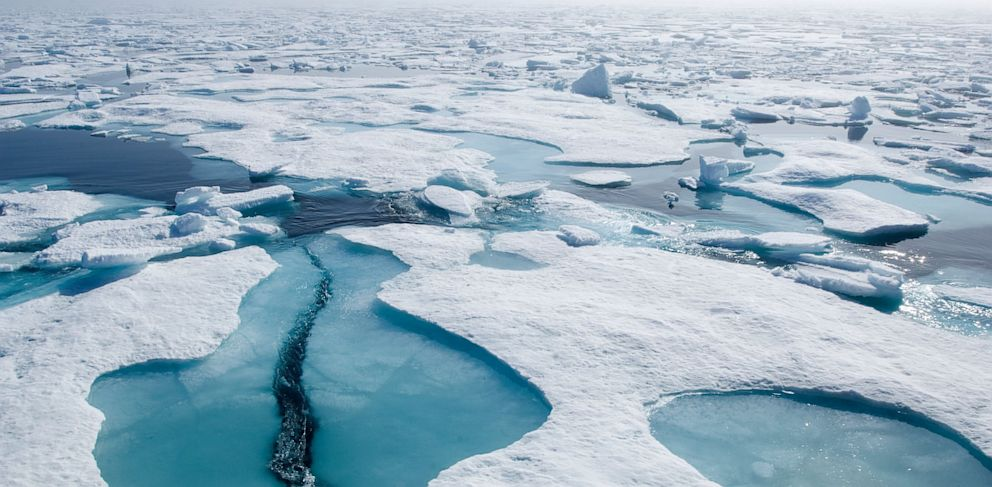 PHOTO: Two Americans have been rescued after getting stranded on an ice floe in the Canadian Arctic, June 26, 2013.