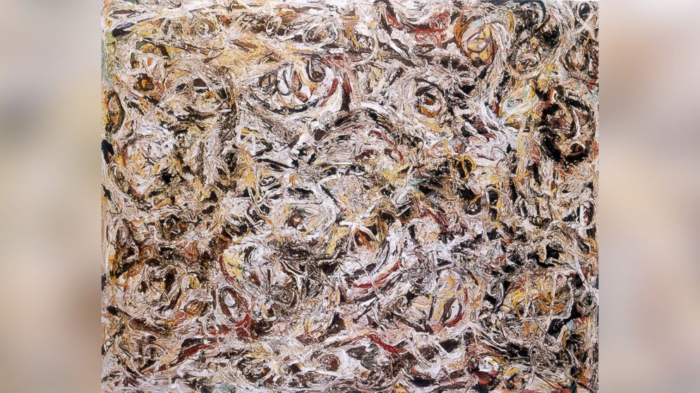 PHOTO: Jose Carlos Bergantinos Diaz was accused of selling fake works, supposedly by famous artists such as Jackson Pollock, who painted the above painting.