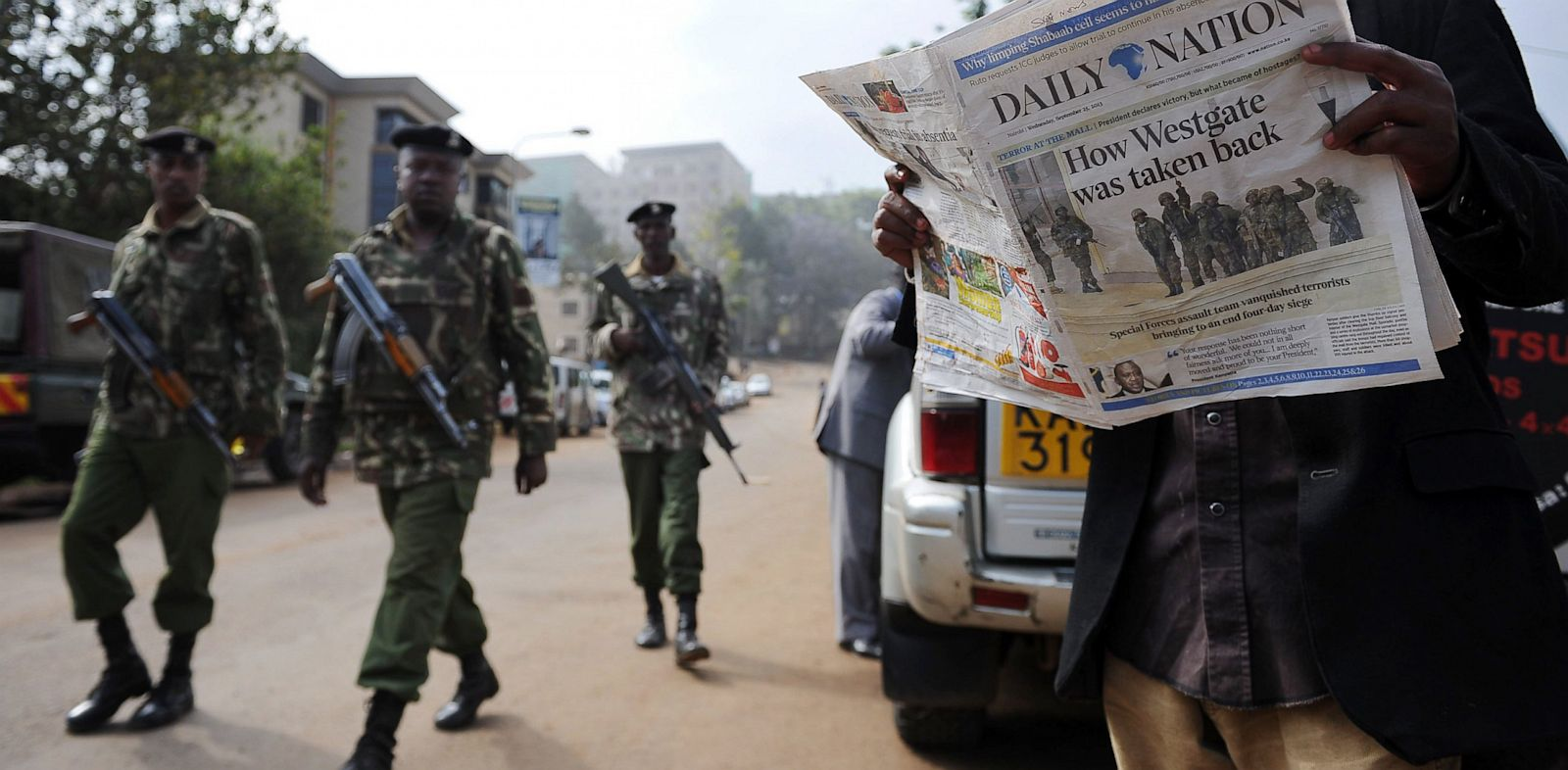 PHOTO: A man reads todays paper in Nairobi, Sept. 25, 2013.