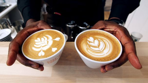 PHOTO: French champion of latte art, Rudy Dupuy, displays his creations on June 27, 2013 in Nice, France.