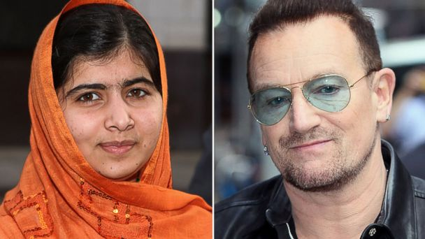 GTY malala bono nobel jtm 131010 16x9 608 Malala Favorite to Win Nobel Prize, But Bono and Putin Also Receiving Bets