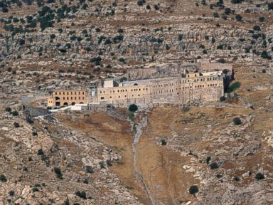PHOTO: Mar Mattai monastery located atop Mount Alfaf in northern Iraq and 20 kilometers from Mosul is pictured on Feb. 9, 2016.