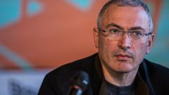 PHOTO: Mikhail Khodorkovsky, the former owner of one of Russias largest oil companies, holds a public meeting and press conference at Izolyatsia, a non-governmental arts foundation in Donetsk, Ukraine, April 27, 2014.