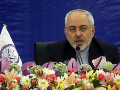 PHOTO: Iranian Foreign Minister Mohammad Javad Zarif speaks during a meeting in Tehran, Iran