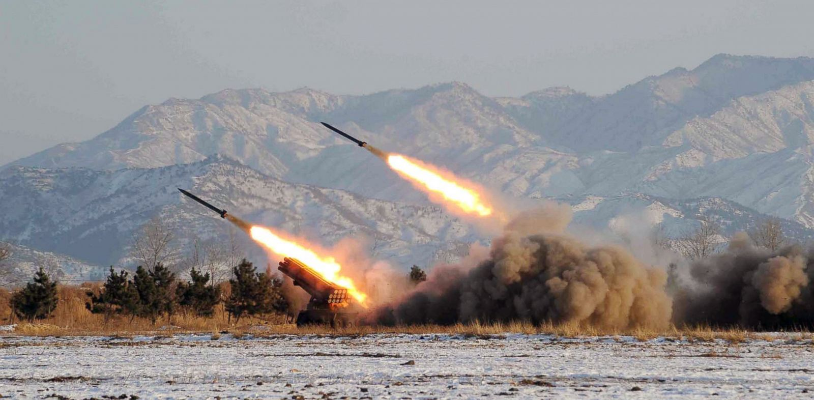 PHOTO: This undated file picture released from North Koreas official Korean Central News Agency shows a firing drill of the Unit 1489 under the Artillery Command of the Korean Peoples drill at undisclosed location in North Korea.