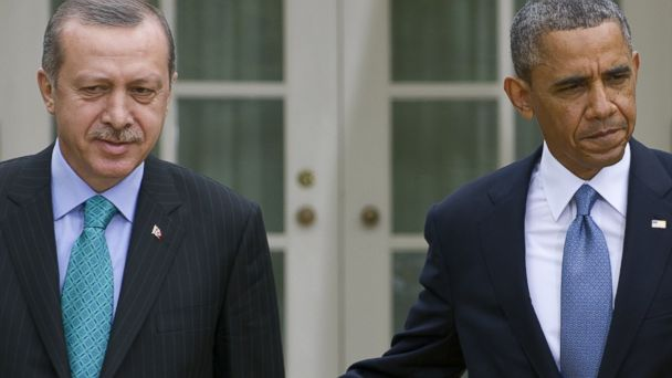 GTY obama erdogan jtm 140220 16x9 608 Turkey Should Come Under Scrutiny for Dealings With Iran, Says Think Tank