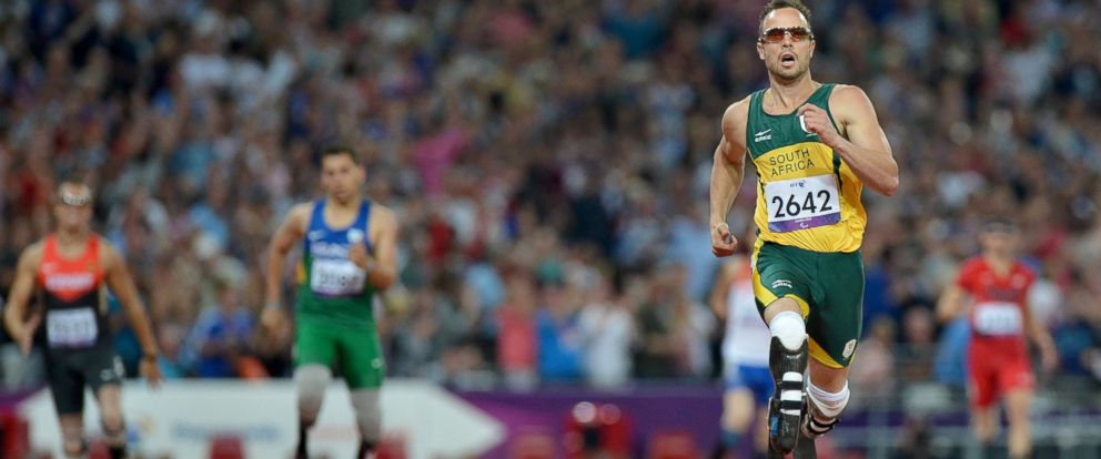 PHOTO: South Africas Oscar Pistorius in the mens 400m - T44 final at the London 2012 Paralympic Games at the Olympic Stadium in London, Sept. 8, 2012.