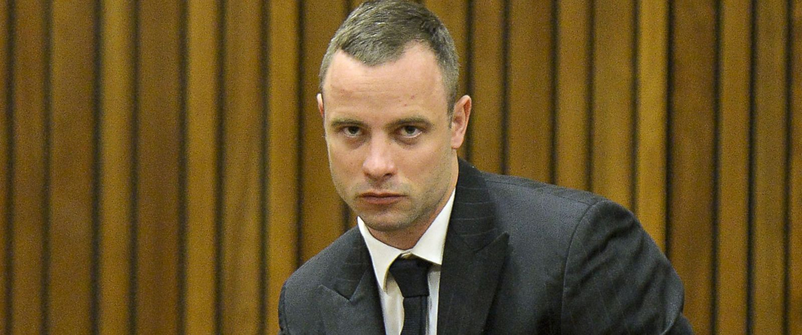 PHOTO: Oscar Pistorius is pictured on May 9, 2014 in Pretoria, South Africa.