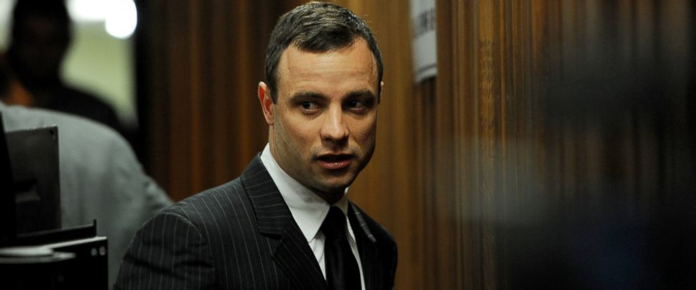 PHOTO: Oscar Pistorius arrives at the Pretoria High Court on July 2, 2014 in Pretoria, South Africa.