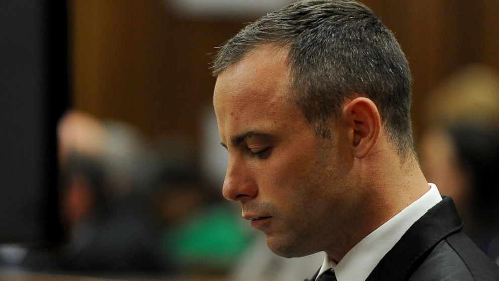 PHOTO: Oscar Pistorius in court for his ongoing murder trial in Pretoria, South Africa, May 12, 2014.