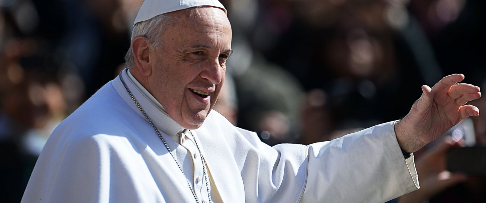PHOTO: Pope Francis is pictured in St. Peters Square at the Vatican on March 18, 2015.