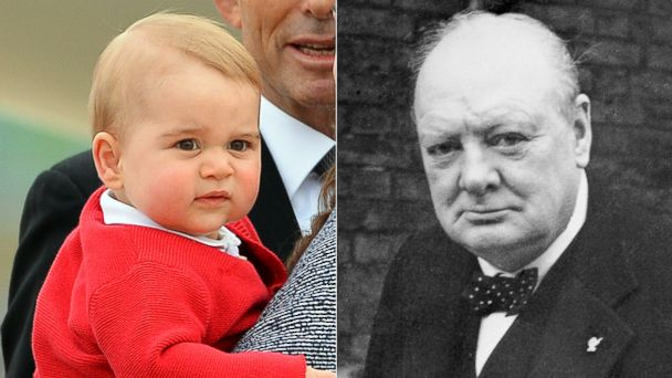 GTY prince george winston churchill split m jt 140629 16x9 608 Prince Harry Says Royal Baby George Spitting Image of Churchill