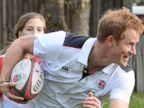 Aww! Prince Harry Plays Rugby with Youngsters