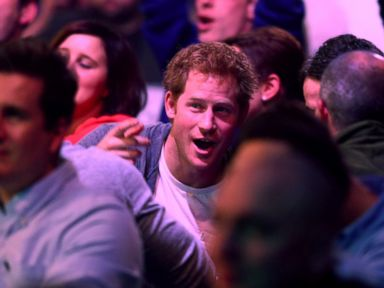 Prince Harry Watches a Darts Match