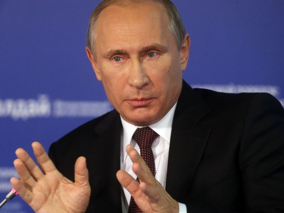 PHOTO: Vladimir Putin is pictured on Oct. 24, 2014 in Sochi, Russia.