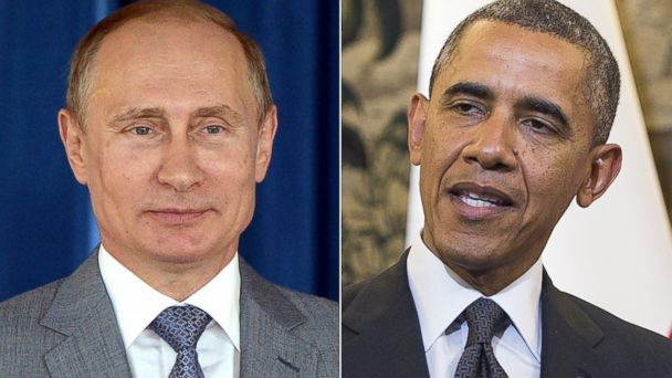 GTY putin obama split kab 140603 16x9 608 #RussiaIsolated? President Obama Wont Meet Putin, but Europes Leaders Will