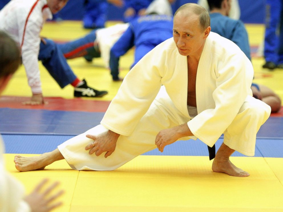 PHOTO: Russias Prime Minister Vladimir Putin takes part in a judo training session at the Moscow sports complex in St. Petersburg, Dec. 22, 2010.