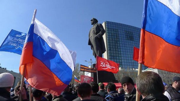 GTY russian flags mar 140328 16x9 608 Russia Already Selling Crimea Annexation in School Lessons