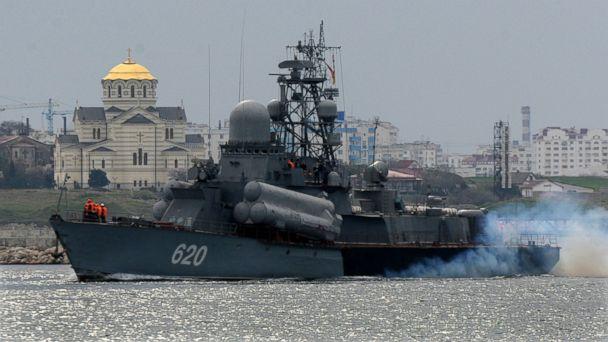 GTY russian ship 3 kab 140306 16x9 608 Surge of Ukrainian Patriotism at Russias Black Sea Port