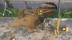 Road Collapses in Zhengzhou
