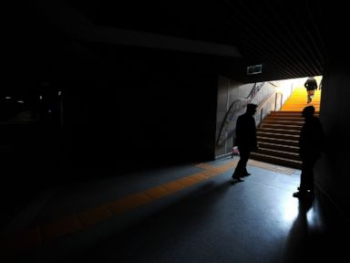 PHOTO: Parts of the subway system in Bursa, Turkey are shut down after a major power outage hit cities and provinces across Turkey, including the capital of Ankara, March 31, 2015.