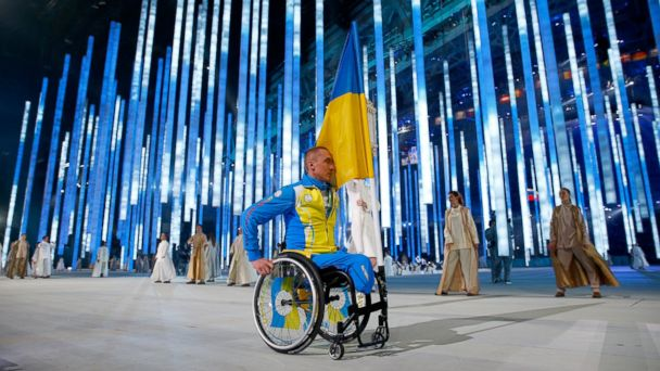 GTY ukraine paralympics flag bearer jef 140307 16x9 608 Ukraines Flag Bearer Greeted By Roaring Crowd At Paralympic Games in Russia