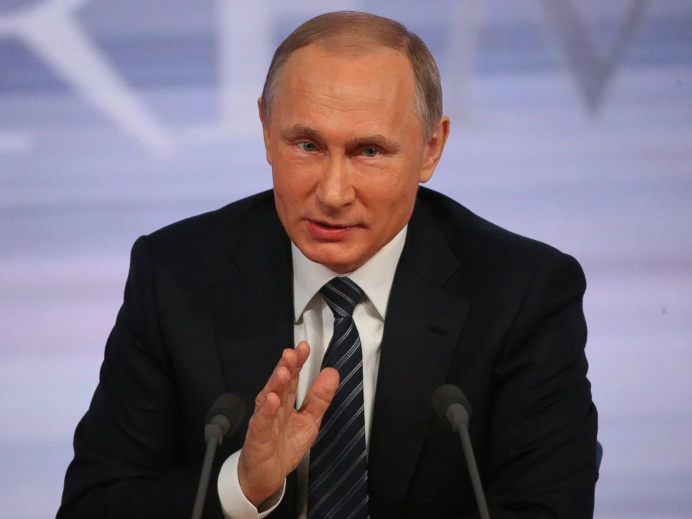 PHOTO:Russian President Vladimir Putin speaks during his annual press conference on December 17, 2015 in Moscow.