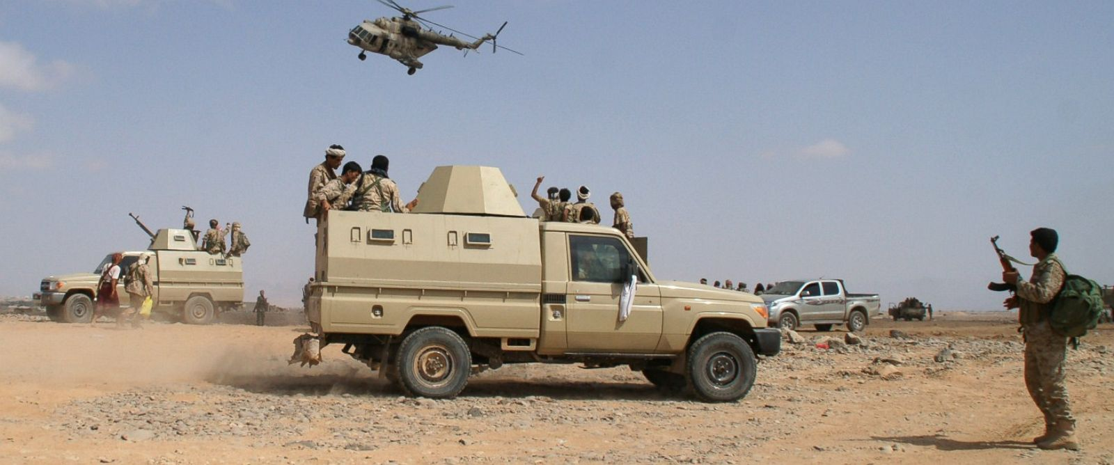 PHOTO: Yemeni troops take part in an offensive against extremists in the southern province of Shabwa on May 7, 2014.