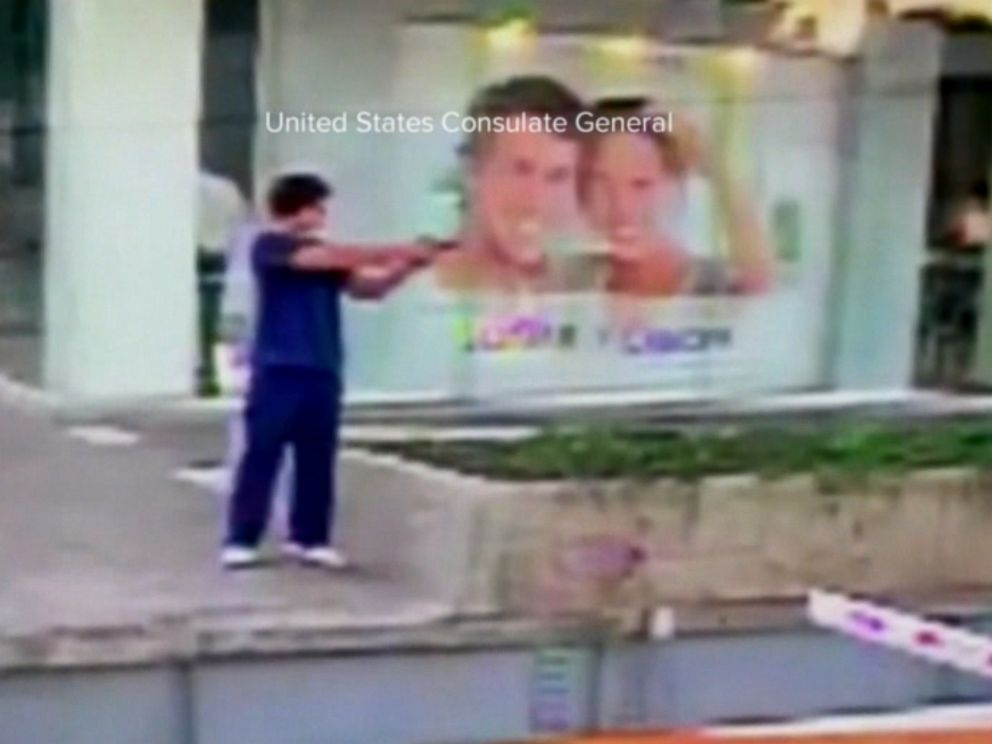 PHOTO: The man suspected of shooting a U.S. consulate officer is outside the consulate in Guadalajara, Mexico, Jan. 8, 2017.