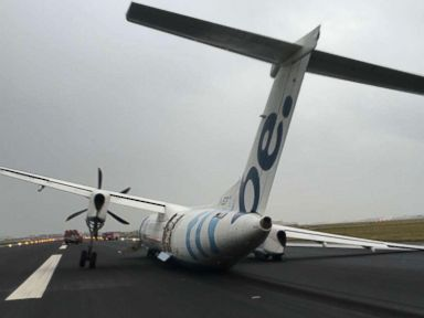 Landing gear on plane carrying 59 collapsed during touchdown, airport says