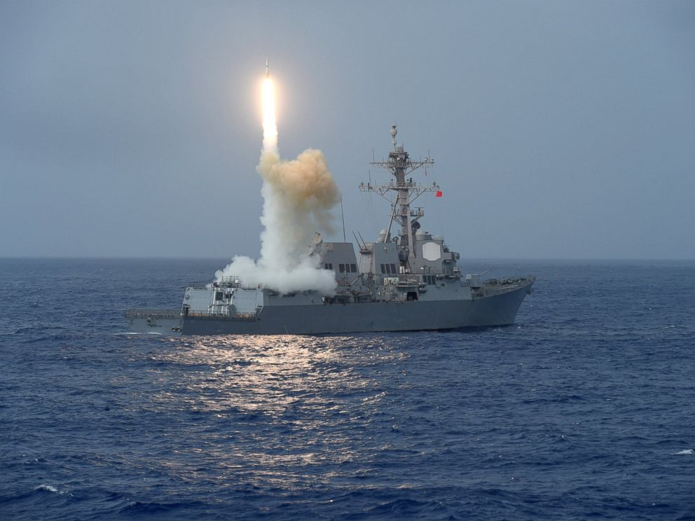 PHOTO: A missile is launched from the aft missile deck of the forward-deployed Arleigh Burke-class guided-missile destroyer USS Fitzgerald (DDG 62) during Multisail 17.