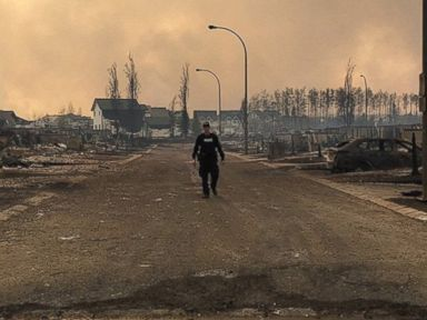 Wildfire Leave Post-Apocalyptic Aftermath in Alberta