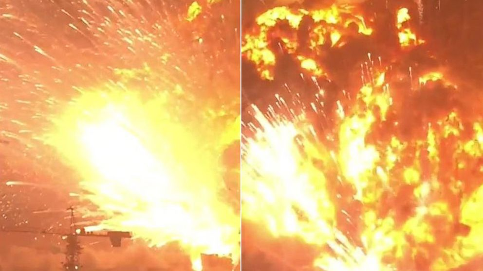 Dramatic Video Shows Deadly Explosion That Rocked Tianjin
