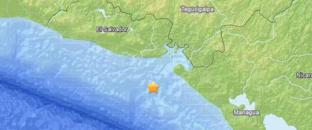 PHOTO: A 7.4-magnitude earthquake was reported off the coast of El Salvador, Oct. 13, 2014.
