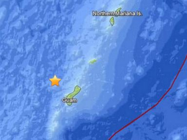 PHOTO: An earthquake was reported off the coast of Guam, Sept. 17, 2014.