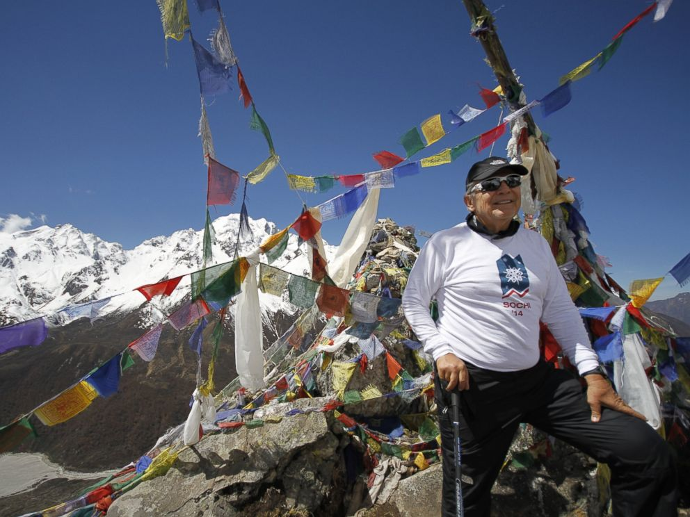 PHOTO: Ed Marzec, 67, on Yala Peak in Nepal 2013. He hoped to scale Mt. Everest this year.