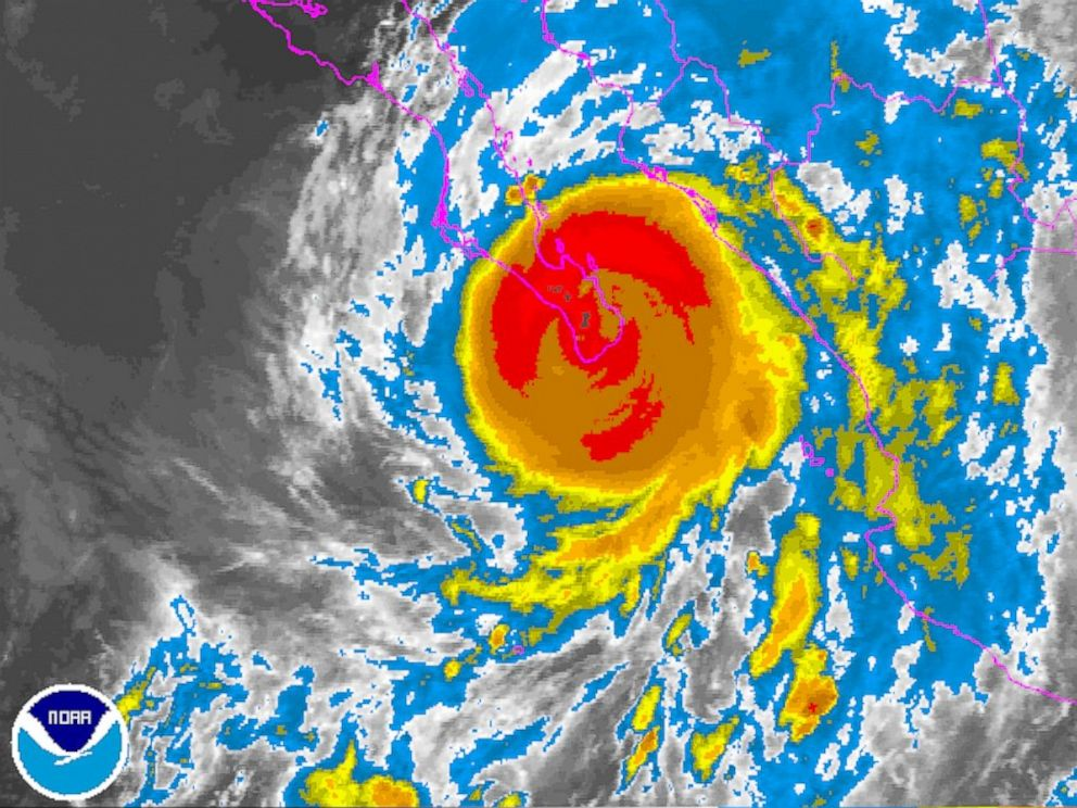 PHOTO: Hurricane Odile is seen on this satellite image released by the National Oceanic and Atmospheric Administration, Sept. 15, 2014.