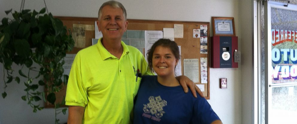PHOTO: Kayla Mueller is seen here with her father Carl in this undated photo.