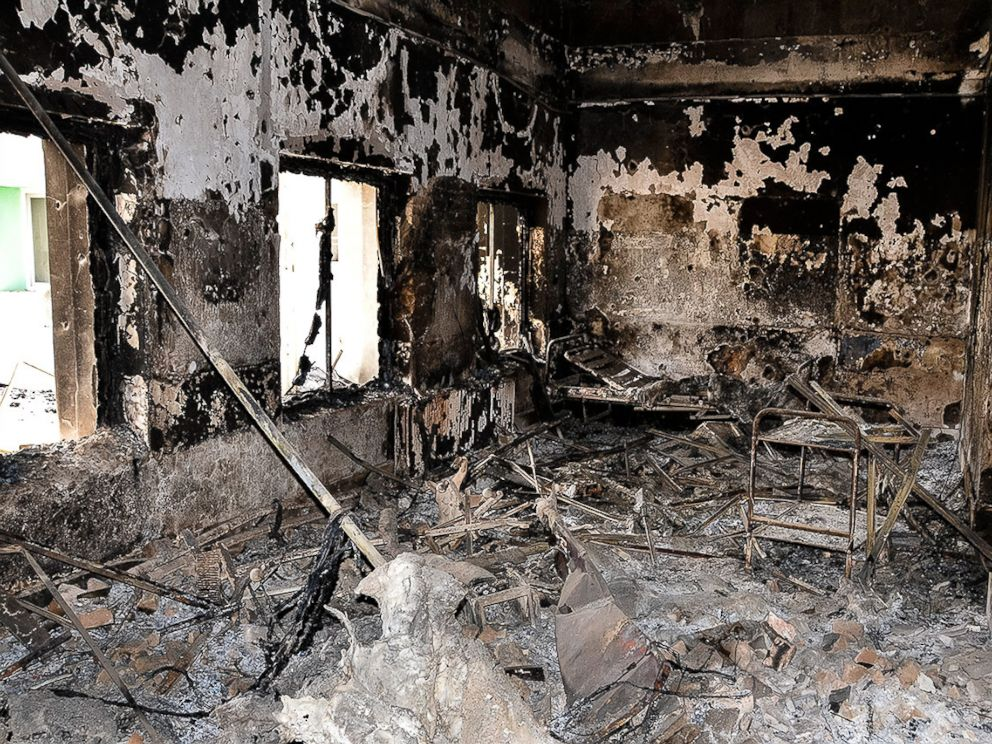PHOTO:The outpatient department lies in ruin after U.S. airstrikes hit the hospital on October 3, 2015.