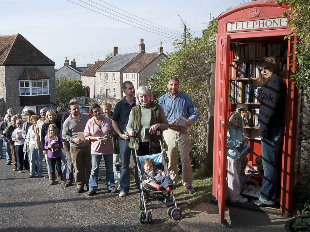 PHOTO: British phone booths are being transformed into lending libraries, tourist information points, Wi-Fi hubs, defibrillator stations, places to charge electric cars, coffee shops and more.
