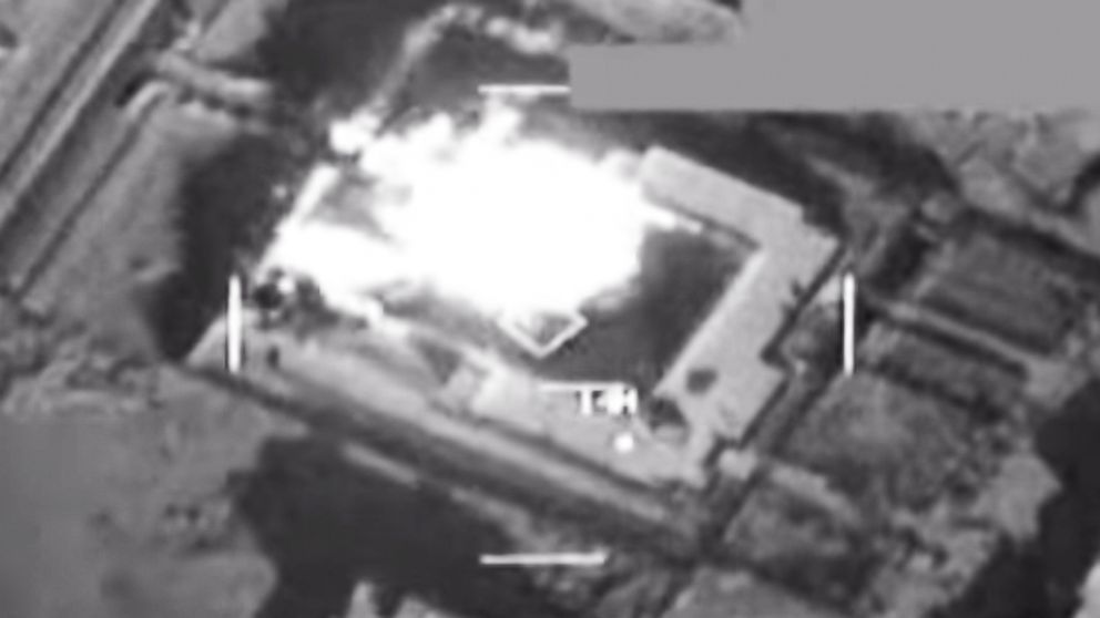 PHOTO: ISIL storage facility near Abu Kamal, Syria, struck by U.S. strike aircraft Sept. 23, 2014.