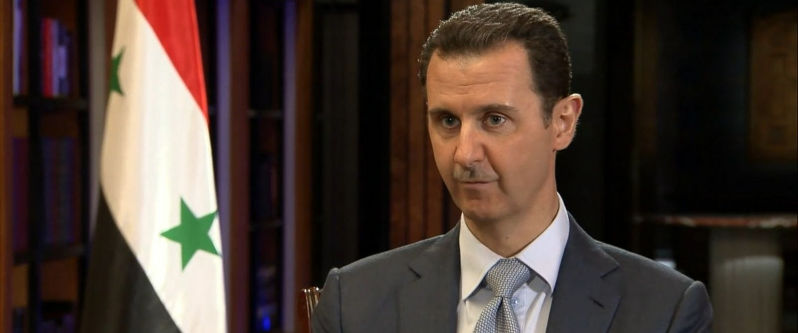 PHOTO: Syrian President Bashar al-Assad speaks during a rare interview with the BBCs Jeremy Bowen, Feb. 10, 2015.