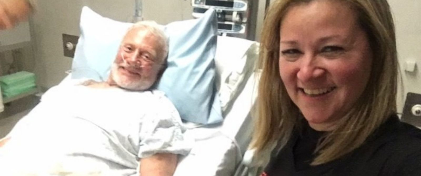 PHOTO: Astronaut Buzz Aldrin is seen smiling from a hospital bed in New Zealand after he was medically evacuated from the South Pole.