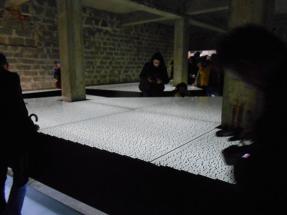 PHOTO: A memorial known as the Room of Names at the concentration camp lists names of men who died at Mauthausen.