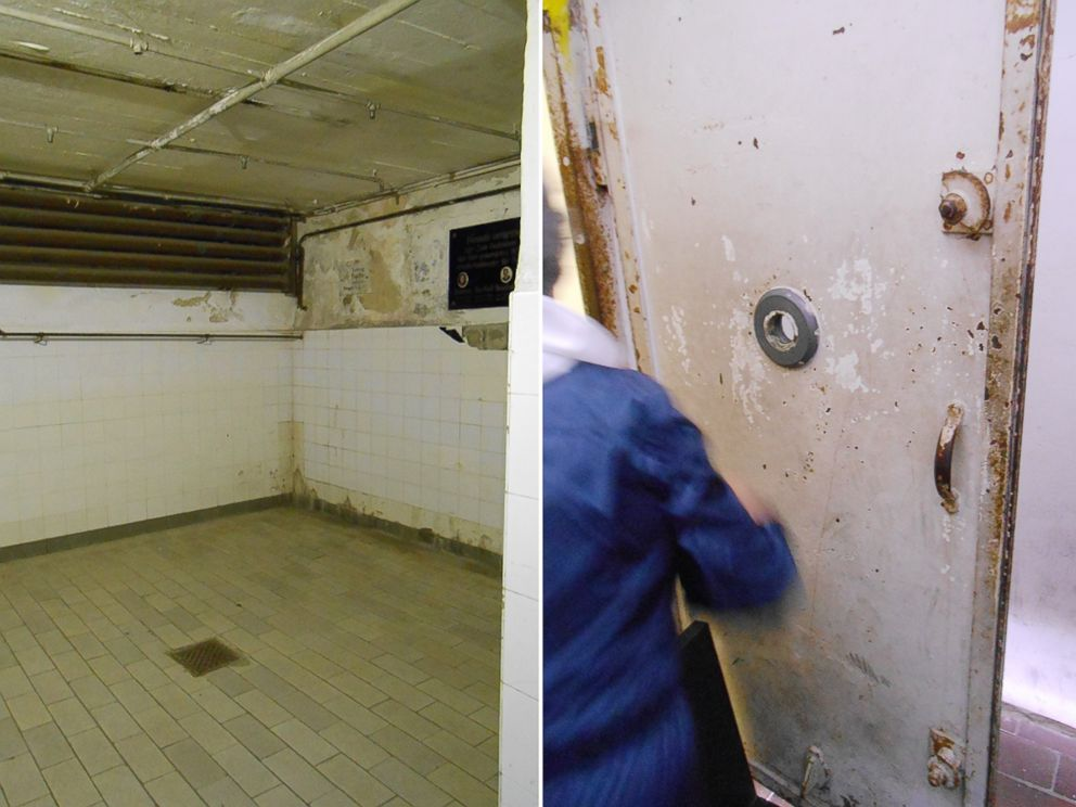 PHOTO: The gas chamber at Mauthausen. Pal Ferenczi recalled about 50 men being shoved into the tiny room at a time.
