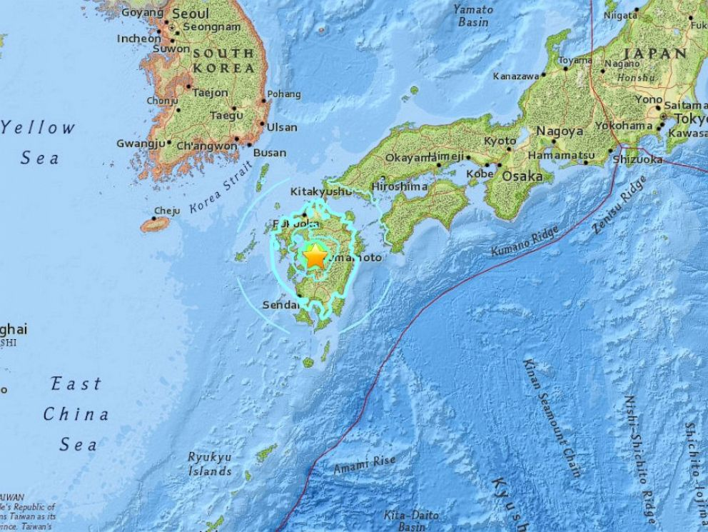 Death Toll From Second Earthquake In Japan Rises To Bringing - Japan quake map 2016