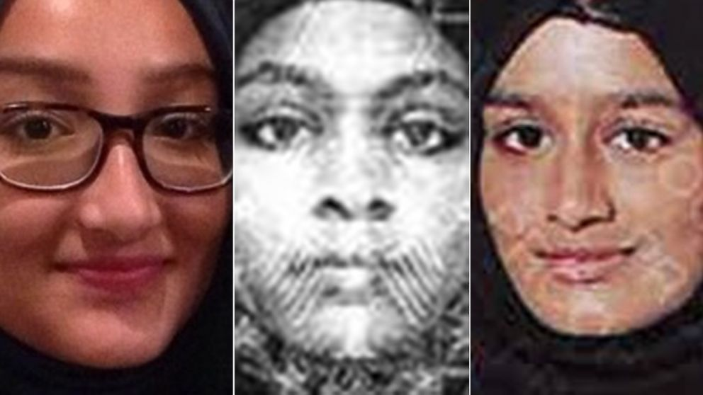 PHOTO: (L-R) These images released by Scotland Yard show Kadiza Sultana, Amira Abase and Shamima Begum.