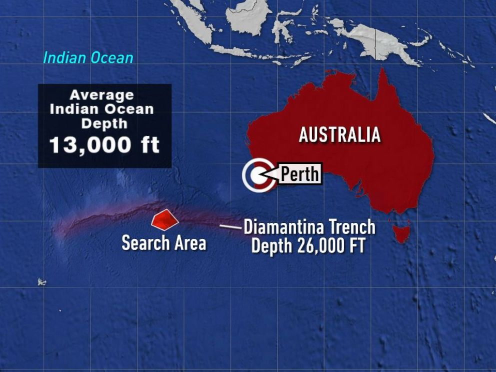 PHOTO: Numerous search crews continue to scour a remote section of the southern Indian Ocean for the missing Malaysia Airlines plane. The search area is about 1,400 miles southwest of Perth, Australia.
