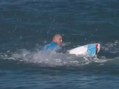PHOTO: The J-Bay Open has been called off after finalist Mick Fanning (AUS) was attacked by a shark in the lineup, July 19, 2015.