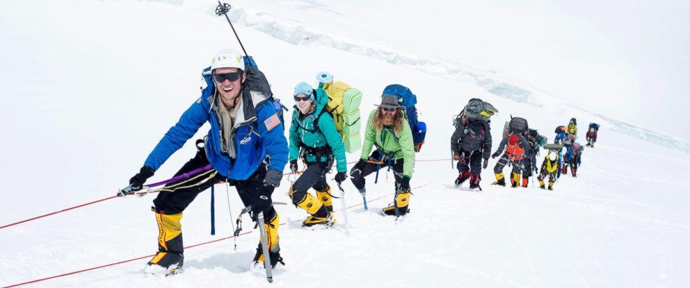 PHOTO: Team USX climbers make the 7,000-meter trek toward Mount Everests Camp 1.